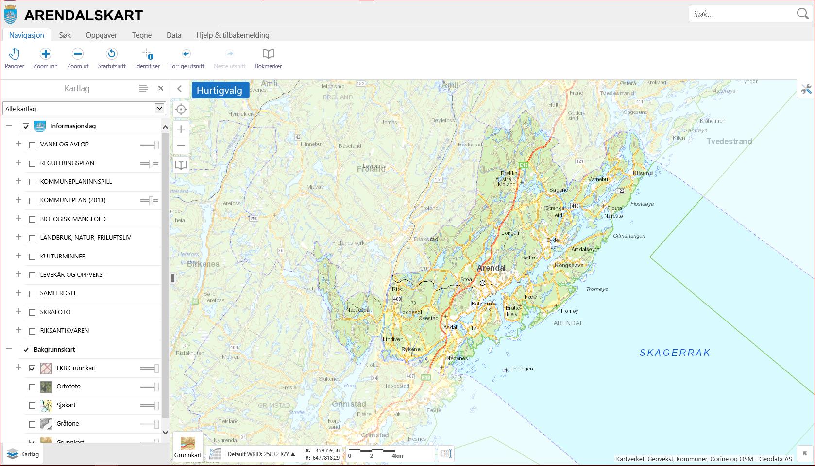 kart over arendal kommune Kartinnsyn Arendal kommune   Arendal kommune   Kartkatalogen kart over arendal kommune